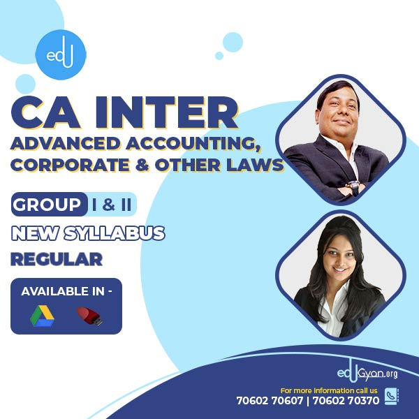 CA Inter Advanced Accounting | Corp. & Other Laws Combo By CA Parveen Jindal & Ankita Patni