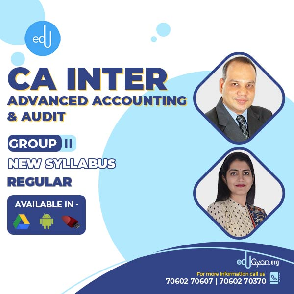 CA Inter Advanced Accounting & Audit Combo By CA Vinod Kumar Agarwal & Aarti Lahoti