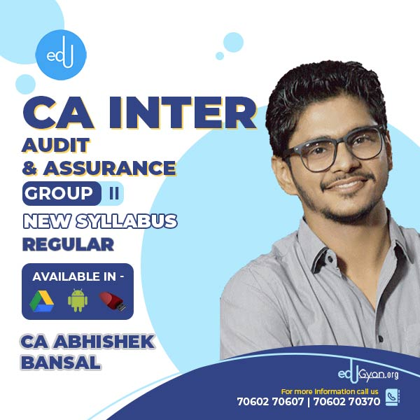 CA Inter Audit & Assurance By CA Abhishek Bansal