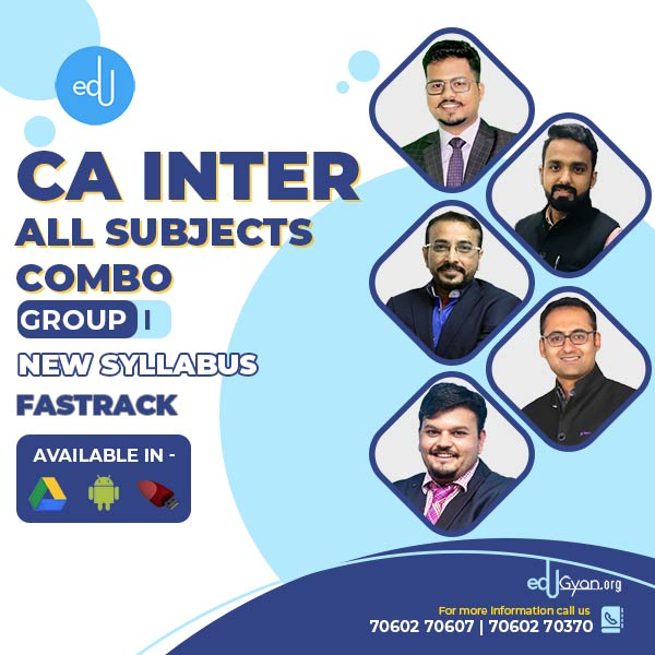 CA Inter Group- I Fast Track Combo By V Smart Academy