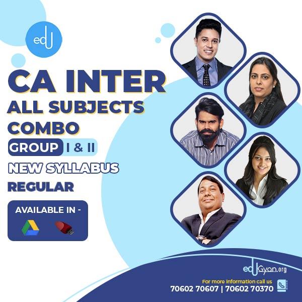 CA Inter Group- I & II Combo By Swapnil Patni Classes