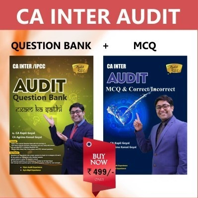 CA Inter Audit Question Bank & MCQ Book By CA Kapil Goyal