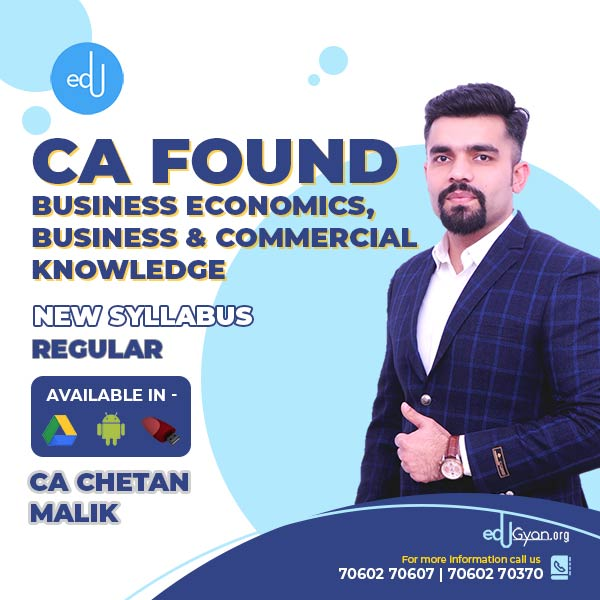 CA Foundation Business Economics By CA Chetan Malik