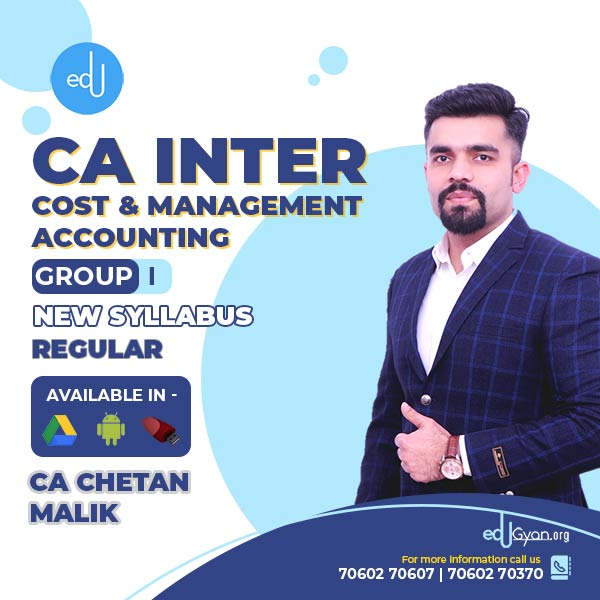 CA Inter Cost & Management Accounting By CA CS Chetan Malik