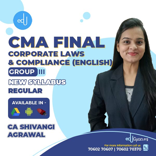 CMA Final Corporate Laws & Compliance By CA Shivangi Agrawal (English)
