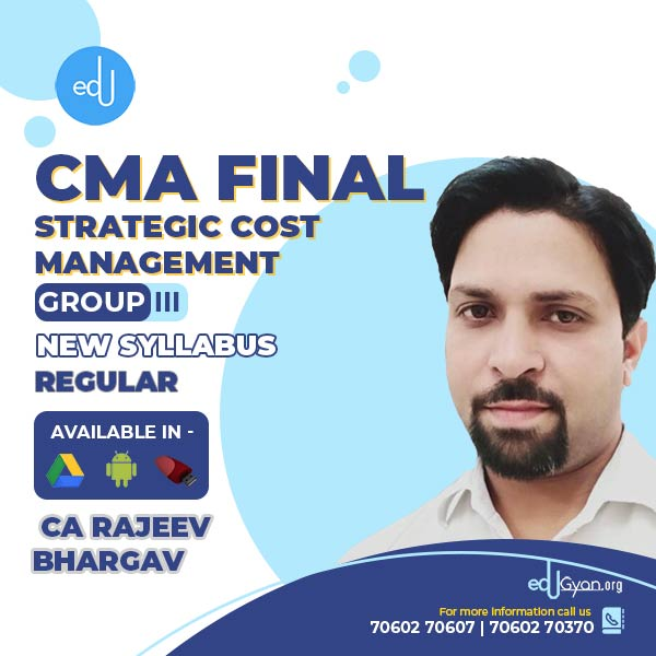CMA Final Strategic Cost Mgt-Decision Making By CA Rajeev Bhargav