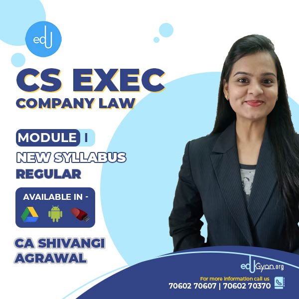 CS Executive Company Law By CA Shivangi Agrawal