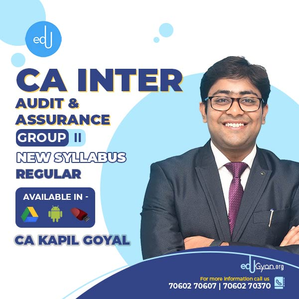 CA Inter Audit & Assurance By CA Kapil Goyal