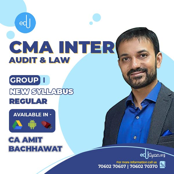 CMA Inter Laws & Audit Combo By CA Amit Bachhawat