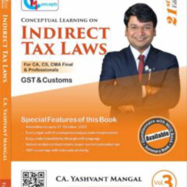 CA FINAL IDT (GST+Customs)– Main Book (Set of 3) By CA Yashvant Mangal