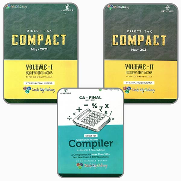 CA Final Direct Tax COMPACT & COMPILER (COMBO) For May 21 Exams By CA Bhanwar Borana