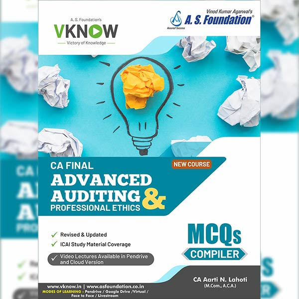 CA Final Auditing Assurance & PE MCQ Compiler Book By CA Aarti Lahoti