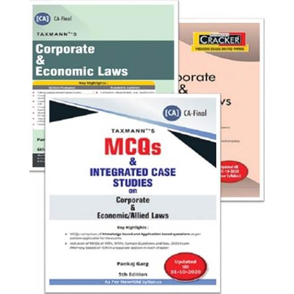 CA Final Corporate & Economic Laws (Cracker, Main Book & MCQ) By CA Pankaj Garg