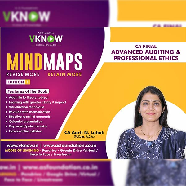 CA Final Audit MINDMAP Book by CA Aarti Lahoti