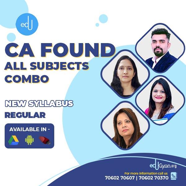 CA Foundation All Subjects Combo By Chetan Malik Classes