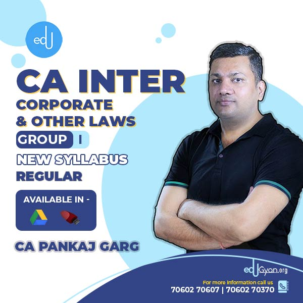 CA Inter Corporate & Other Laws By CA Pankaj Garg