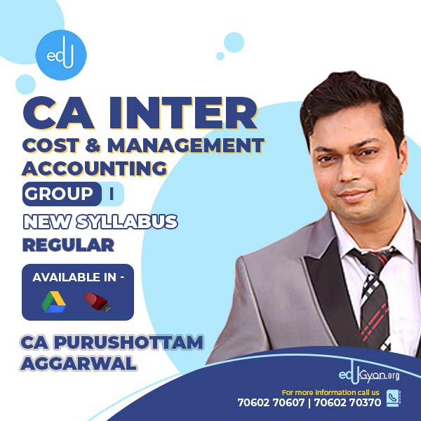 CA Inter Cost & Management Accounting By CA Purushottam Aggarwal