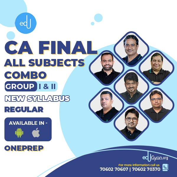 CA Final Group-I & II All Subjects Combo By One Prep