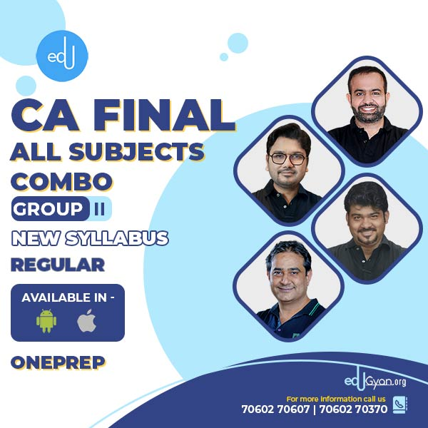 CA Final Group-II All Subjects Combo By One Prep