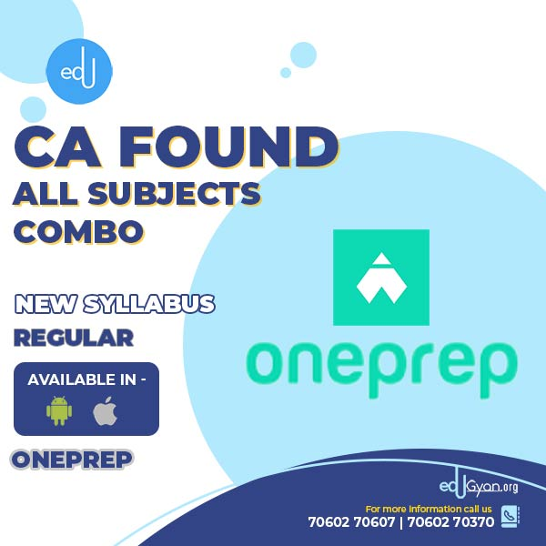 CA Foundation All Subjects Combo By One Prep