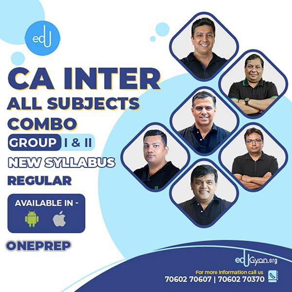 CA Inter Group-I & II All Subjects Combo By One Prep
