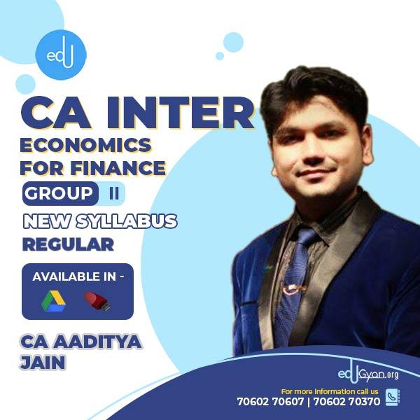 CA Inter Economics For Finance By CA Aaditya Jain